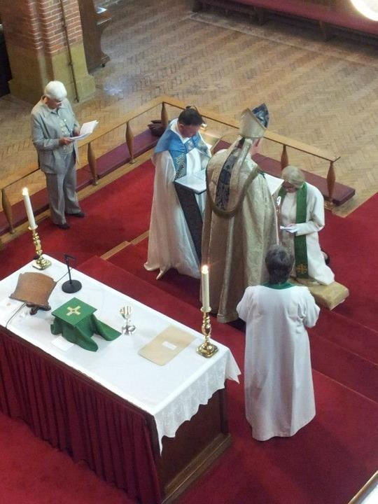 Canon Diane being installed by the Bishop